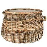 RM Design Cesto in vimini per legna da ardere, cesto per la biancheria o decorazione, diametro 50 cm