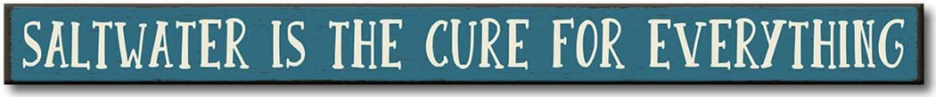 My Word Saltwater is The Cure Sign Wooden Don't miss the campaign Everything for Max 64% OFF -