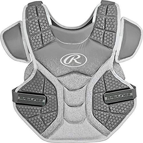 Rawlings Sporting Goods Softball Protective Velo Brustprotektor, 33 cm, Silber/weiß