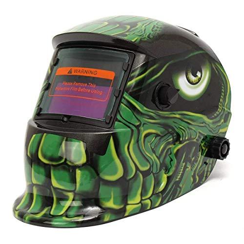 LIMEI-ZEN Aliens Pattern Solar Auto Darkening Welding Helmet Professional Protect Tool Mask with Grinding Function Mask Helmet Welding Tool