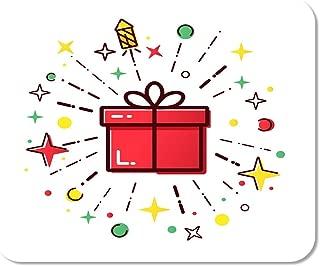 Mousepad Computadora Bloc de Notas Sorpresa Línea de Caja de Navidad con Fuegos Artificiales Rojo Lindo para la Venta del día de Boxeo Merry Flat Home School Game Game Computer