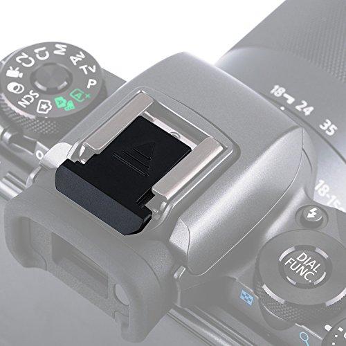 JJC Hot Shoe Cover per Fotocamera DSLR Canon, Powershot e Mirrorless con Hot Shoes (Nero)