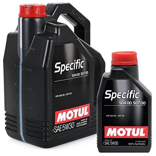 Motorolie 106375 Motul Specific 504.00-507.00 5W30 6 liter (1 x 5 liter + 1 x 1 lt)