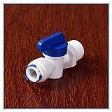 KHJK 1/2 Male - 3/8 Pulgadas OD Tubo PE Accesorio de tubería de retrolavado Controlada Filtro Válvula de Bola de Acuario de Agua del RO Sistema de ósmosis inversa