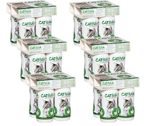 Dehner Cativia Lait pour Chat avec prébiotique 6 x 4 Bouteilles (2,28 l)