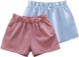 Fruitsunchen 2 Pack Toddler Baby Girls Cargo Summer Shorts