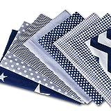 YIMAKJ - Tela de algodón, 8 unidades, 50 x 75 cm, tela de algodón, por metro, tela de costura, tejido de patchwork, 100% algodón, para ropa, ropa de cama, cortinas, manteles, etc.