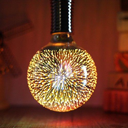 lightingdesigner-/3d-Feuerwerk-LED-Leuchtmittel, AC 85–240V E27-Leuchtmittel, silber, E27 4.00W 240.00V