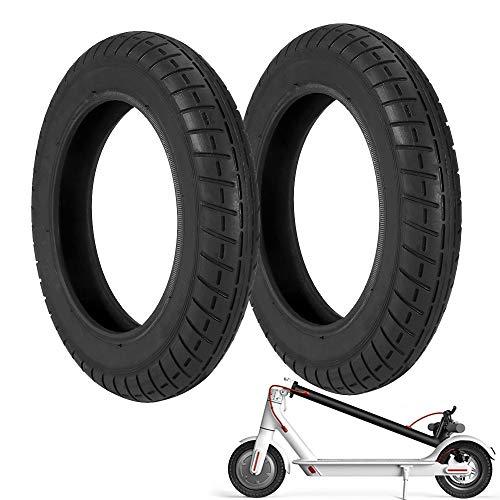 Houkiper Ruedas de Repuesto para Scooter Eléctrico, Neumático de Reemplazo de 10 Pulgadas, Compatible con Xiaomi M365 (2 Pack)