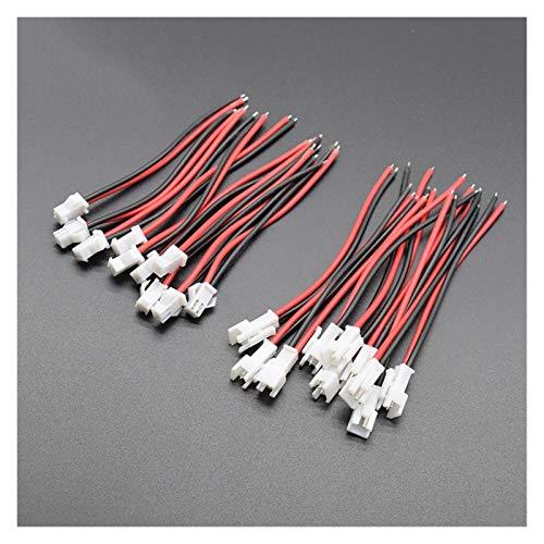 Kfdzsw Interruptor basculante 10 Pares / 5 Pares Blanco Micro 2 Pin Conector de Enchufe Masculino y Hembra con Cables de Cable Longitud100mm (Color : 10sets 20pcs)