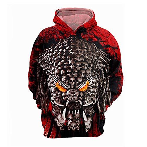 Gbcyp Sweatshirt Horror 3D Hoodie Pullover Top voor heren