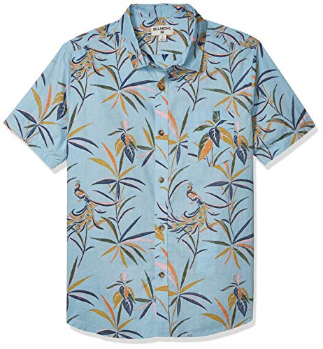 BILLABONG Jungen Sundays Mini Short Sleeve Woven Shirt Button Down Hemd, Nebel, Mittel