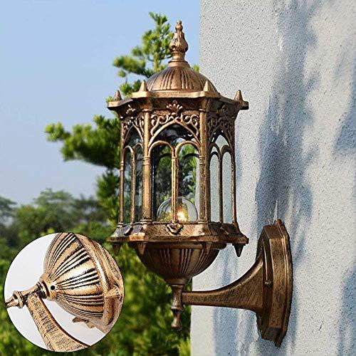 Lámpara de pared para exterior de Oukaning, retro, vintage, lámpara de pared,...