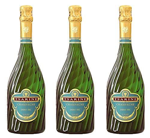 Batch von 3 Tsarine demi-sec Champagner 75cl