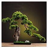 Bonsai Artificial Decoración de sala de plantas de árboles de árboles de bonsái artificial para el dormitorio estética y casera de la casa de la casa decoración de baño, altura 22 pulgadas plantas fal