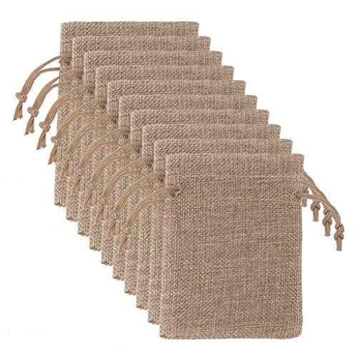 Jute Bag  25Pc Wedding Party Decorative Bag Candy Bag Sack Linen Bag Home & Garden Housekeeping & Organizers Christmas for Faclot