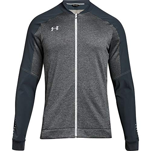 Under Armour Men's UA Qualifier Hybrid Warm Up Jacket (Small, Stealth Gray)