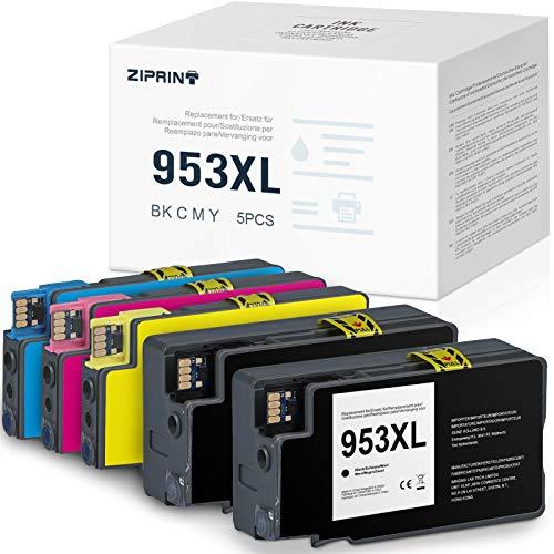 ZIPRINT Cartuchos de tinta compatibles 953XL para HP Officejet Pro 8710 8720 8715 8730 8740 7740 7720 8210 8718 8719 8725 8218 (5 unidades)