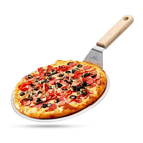 G.a HOMEFAVOR Runder Pizzaschaufel aus Edelstahl, 25.5 cm Pizzaheber Kuchenheber für hausgemachte Pizza, Kuchen und Brot