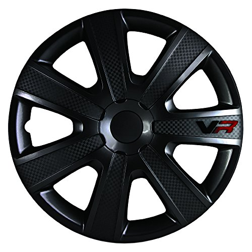Alpena 58259 VR Carbon Wheel Cover Kit - Black - 15-Inch - Pack of 4