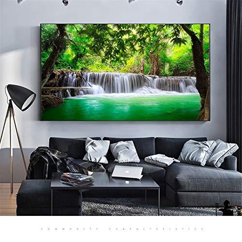 Puzzle 1000 piezas Paisaje naturaleza cascada pintura arte paisaje imagen cascada puzzle 1000 piezas paisajes Juego de habilidad para toda la familia, colorido juego de ubicac50x75cm(20x30inch)