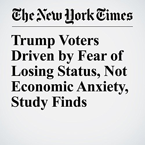 Trump Voters Driven by Fear of Losing Status, Not Economic Anxiety, Study Finds copertina
