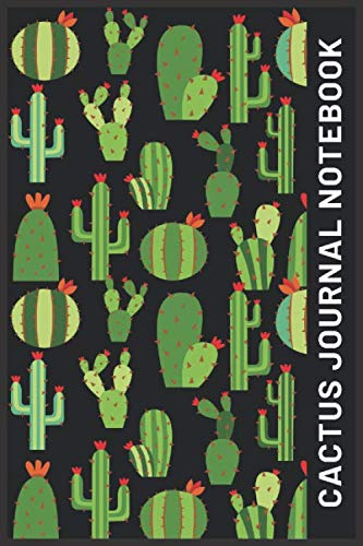 """cactus journal notebook: Lined Journal, 6"""" X 9"""", Hardcover, Back Pocket, Strong Twin-Wire Binding with Premium Paper, College Ruled Spiral Notebook/Journal, Perfect for School, Office & Home"""