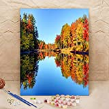 Autumn foliage in the Monadnock Region of New Hampshire Paint by Numbers Kits, DIY Oil Painting for Beginner, Adults, Drawing on Canvas, Art for Home Art Wall Decor-Frameless- 16X20 In