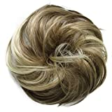 PRETTYSHOP Haarteil Haargummi Hochsteckfrisuren unordentlicher Dutt leicht gewell. Farbe: braun...