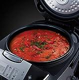 Russell Hobbs 21850-56 Cook@Home Multicooker (900 Watt, 5 l, 11 Kochprogramme, Anti-Kondensations-Deckel, Warmhaltefunktion) schwarz/silber - 8