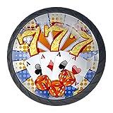 pomos de cristal, de alta calidad Fichas de póquer para puertas de armarios de cocina, tiradores para armarios, cajones, transparentes, 4 unidades Bianco negro 35mm