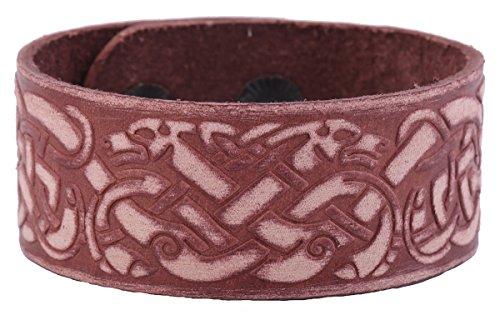 Skyrim Pulsera de cuero vintage con nudo de dragón chino para regalos