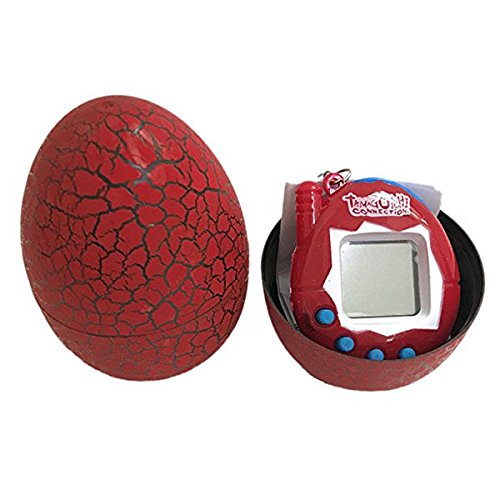 TOOGOO Electronic Pets Infantil Toy Key Digital Pets Vaso Dinosaur Egg Virtual Pets Rojo