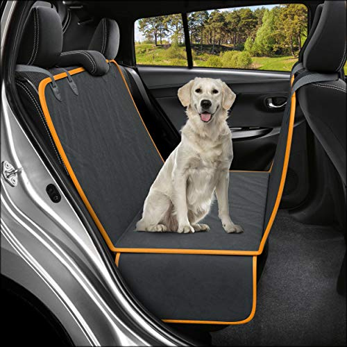 Active Pets Dog Back Seat Cover Protector Waterproof Scratchproof Hammock for Dogs Backseat Protection Against Dirt and Pet Fur Durable Pets Seat...