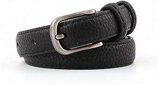 Kainuoo ズボンのための女性ベルトジーンズドレス合金バックル付きヴィンテージドレスベルト (Color : Black)
