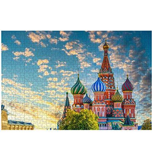 Puzzles para Adultos Puzzle de 1000 Piezas  Catedral de San Basilio, Juguete Educativo Intelectual de descompresión Divertido Juego Familiar para niños Adultos
