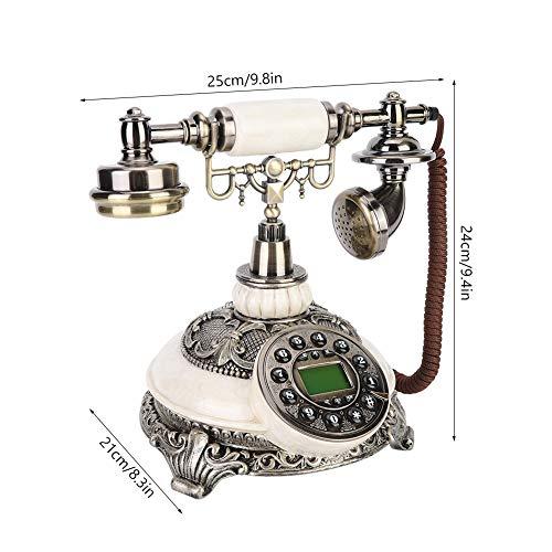 Changor Exquisito Línea Fija Teléfono, 25 X 21 X 24 cm Resina Teléfono Receptor Poseedor Pared Jacks