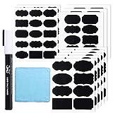 Mr. Pen- Chalkboard Labels, 100pc, Assorted Shapes, 1 White Chalk Marker and Small Towel, Labels, Label Stickers, Labels for Storage Bins, Sticker Labels, Bottle Labels, Food Labels, Jar Labels