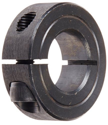 Climax Part 1C-075, Mild Steel, Black Oxide Plating, Clamping Collar, 3/4 inch bore, 1 1/2 inch OD, 1/2 inch Width, 1/4-28 x 5/8' Clamp Screw