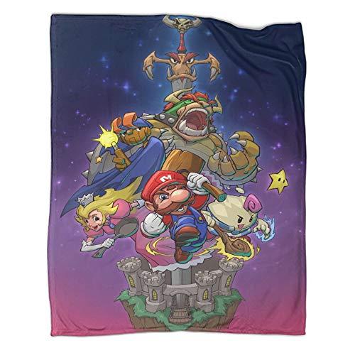 Manta personalizada de Super Mario para todas las estaciones, personalizable, ideal para todas las estaciones, Rpg Art (150 x 200 cm)
