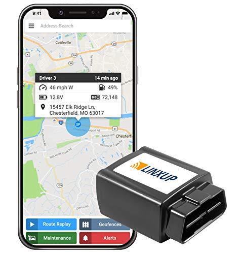 Linxup GPS Car Tracker, Vehicle Tracker and Monitoring System with Real Time Location GPS Reports,...