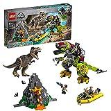 LEGO Jurassic World - T. Rex vs. Dinosaurio Robótico Juguete de construcción para Recrear Aventuras con los...