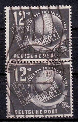 philaseum Briefmarken DDR 1949, Mi. Nr. 245 senkrechtes Paar, Tag der Briefmarke, Gestempelt