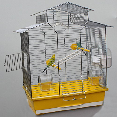 Heimtiercenter Vogelkäfig,Wellensittichkäfig,Exotenkäfig,60 cm Vogelkäfig Vogelbauer Wellensittich Kanarien Voliere Vogelhaus Käfig IZA 2 II gelb