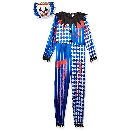 SMIFFYS Costume Deluxe Clown Sinistro, comprende Tuta, Maschera in EVA, Cervello e Capel