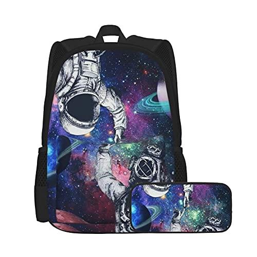 Mochila de gran capacidad combinación, antirrobo y duradera, mochila de viaje para el colegio, senderismo, picnic, astronauta y buceo Galaxy Backpack