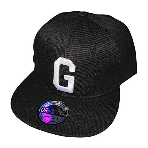 Gorra con letras iniciales, color blanco y negro G Talla...