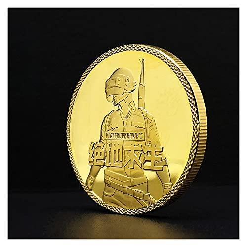 DEALBUHK PUBG Lucky Coin PlayerunkNown's BattleGrounds Juego COMPETITITIVE Moneda de Oro Moneda de Plata Moneda Conmemorativa (Color : A)