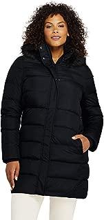 Women's Plus Size Winter Long Down Coat with Faux Fur Hood
