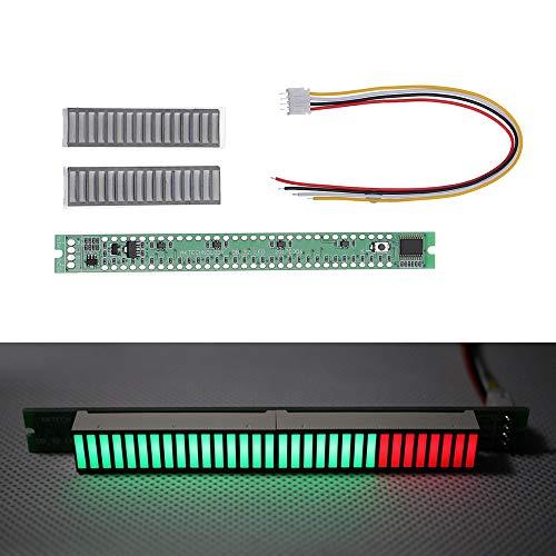 ILS – Kit de 32 LED de música Indicador de nivel VU Meter Medidor de nivel de audio para modo borde, amplificador de luz ajustable Velocidad tarjeta AGC